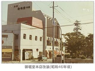 御堀堂本店改装(昭和46年頃)